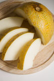 Appetite yellow melon Stock Images