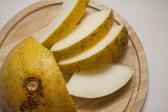 Appetite yellow melon Stock Photo