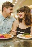 Appetito comune soddisfacente insieme Fotografia Stock Libera da Diritti