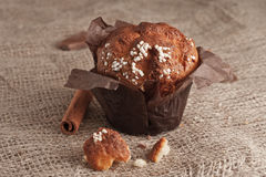 Appetiying muffins on the table. Stock Image