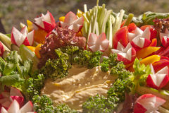 Appetizer. Decorating crudite platter. Healthy food Stock Photography