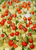 Appetizer. Beautifully arranged appetizer platter stock photo