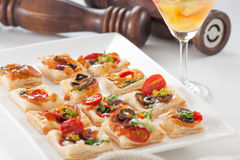 Appetizer. Delicious appetizers to be enjoyed before meals Royalty Free Stock Photos