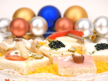 Appetizer. With caviar and other delights Stock Image