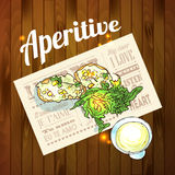 Appetizer and aperitif  Stock Image