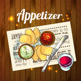 Appetizer and aperitif Royalty Free Stock Image