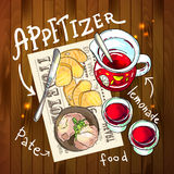 Appetizer and aperitive  Stock Photo