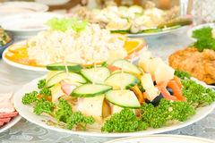 Appetizer. Banquet in the restaurant Royalty Free Stock Photos