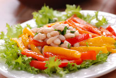 Appetizer beans and peppers Stock Image