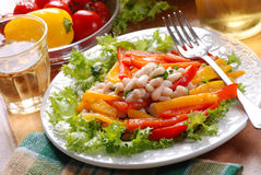 Appetizer beans and peppers Royalty Free Stock Photography