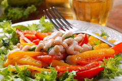 Appetizer beans and peppers Royalty Free Stock Image