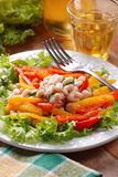 Appetizer beans and peppers Stock Images