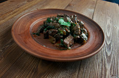 Appetizer beef liver Stock Images