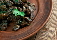Appetizer beef liver Royalty Free Stock Image