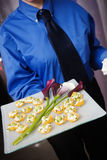 Appetizer being served Royalty Free Stock Photos