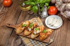 Appetizer bruschetta. Stock Image
