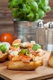 Appetizer bruschetta. Stock Photo