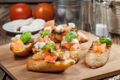 Appetizer bruschetta. Stock Photography