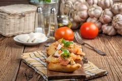 Appetizer bruschetta. Royalty Free Stock Photo