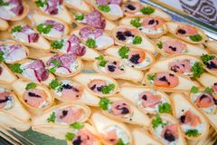 Appetizer canape Stock Photography