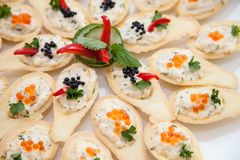 Appetizer canape Royalty Free Stock Photo