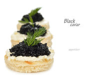 Appetizer with caviar Royalty Free Stock Images