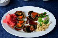 Appetizer century egg with side dish Royalty Free Stock Images