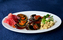 Appetizer century egg with side dish Royalty Free Stock Photos