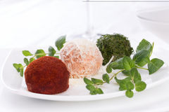 Appetizer, cheese balls Royalty Free Stock Photography
