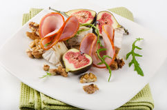 Appetizer with cheese and ham Stock Image