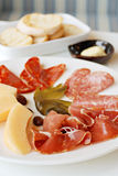 Appetizer cold cut platter Royalty Free Stock Photos