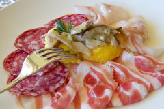 Appetizer with  cold cuts Royalty Free Stock Photos