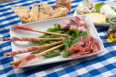 Appetizer of cold cuts Royalty Free Stock Photo