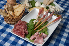 Appetizer of cold cuts Royalty Free Stock Image
