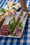 Appetizer of cold cuts Royalty Free Stock Photos