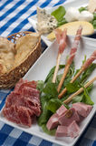 Appetizer of cold cuts Stock Photography