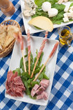 Appetizer of cold cuts Stock Images