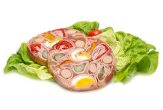 Appetizer of cold meats in jelly Royalty Free Stock Photo