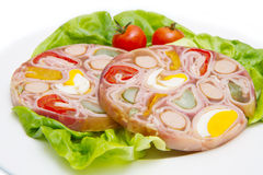 Appetizer of cold meats in jelly Royalty Free Stock Photos