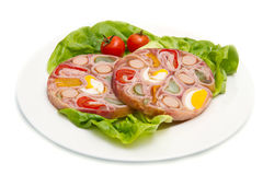 Appetizer of cold meats in jelly Royalty Free Stock Photography