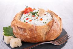 Appetizer, cream cheese spread Stock Images