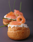 Appetizer with cream and salmon Stock Photography