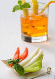 Appetizer with crudites. And cocktail Stock Image