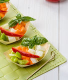 Appetizer with crudites. Appetizer with raw vegetables, crudites Stock Images