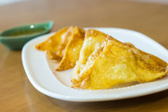 Appetizer Deep Fried dumplings Royalty Free Stock Photos