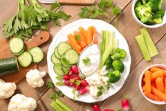 Appetizer with dips Royalty Free Stock Photo