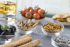 Appetizer and drink Stock Photography