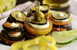 Appetizer with eggplant Royalty Free Stock Photo