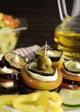 Appetizer with eggplant Stock Photography