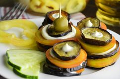 Appetizer with eggplant Stock Image